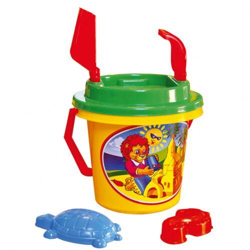 Bino strandspielzeug Set junior 17 x 27 cm gelb/grün/rot