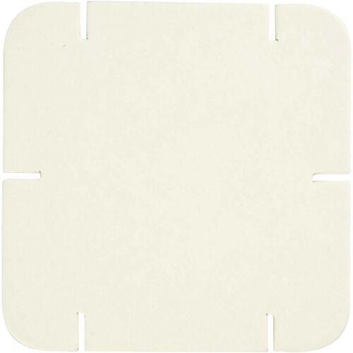 Creotime puzzlekarten 9,3 x 9,3 cm Karton weiß 20 Stück