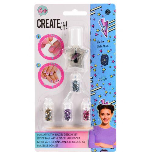 Create It! nailart Set Nailart Set Mädchen 6 teilig
