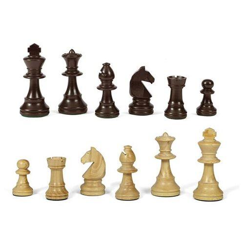 Dal Negro schachfiguren N.5 90 mm Holz dunkelbraun/hellbraun