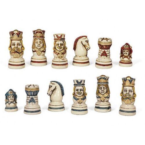 Dal Negro schachfiguren Poker 65 mm Duralbaster weiß/rot/blau