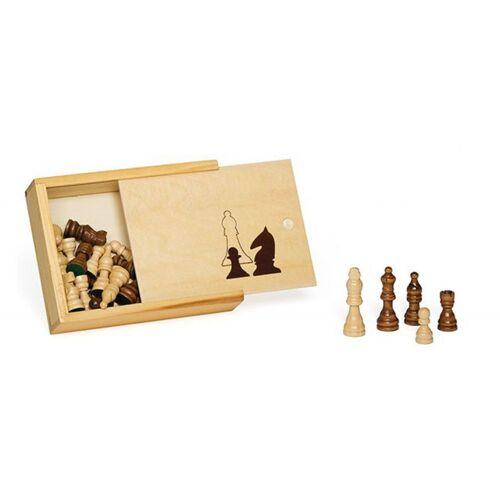 Dal Negro schachfiguren 65 mm Holz klar/braun 33 teilig