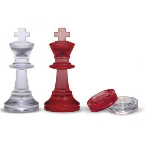Dal Negro schachfiguren und Spundwände 75/28 mm rot/transparent