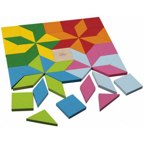 Detoa mosaik Puzzle junior 3 x 5,5 cm Holz 49 Stück