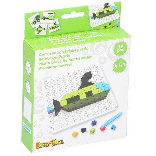 Eddy Toys mosaik Puzzle 4 in 1 Junior grün 59 teilig