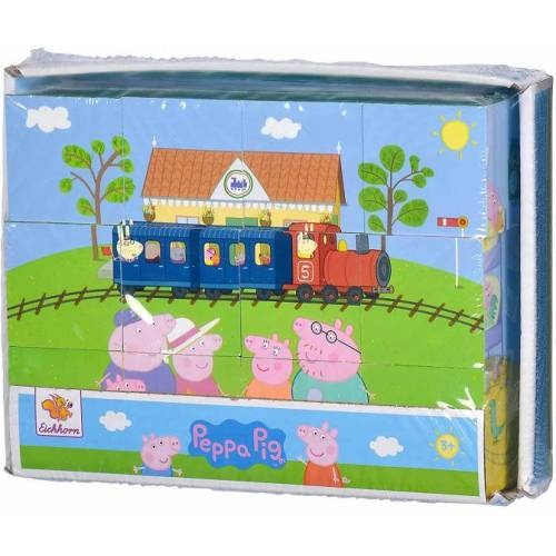 Eichhorn blockpuzzle Peppa pig 16 x 12 cm Holz 12 teilig