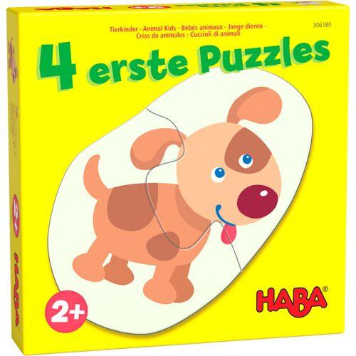 Haba puzzlespiel 4 erste Puzzles Junge Tiere Junior Karton
