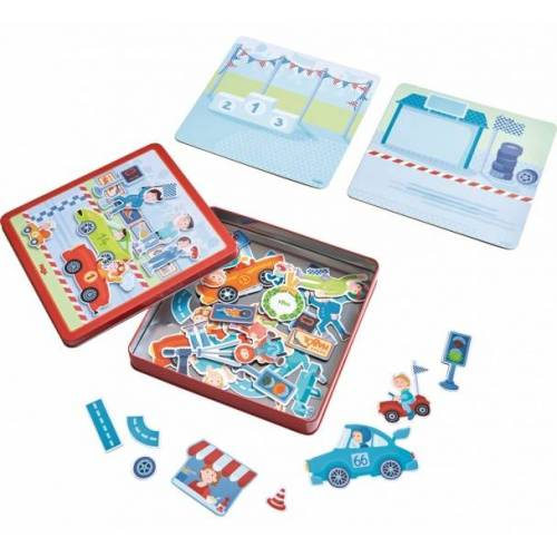 Haba magnetisches puzzle Sportwagens junior 20,5 cm karton 117 teilig