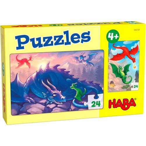 Haba puzzle Dragons junior Karton 2 x 24 Teile