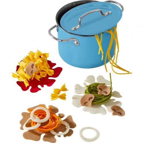 Haba geschirr Kochset Time for pasta junior 12,5 cm blau