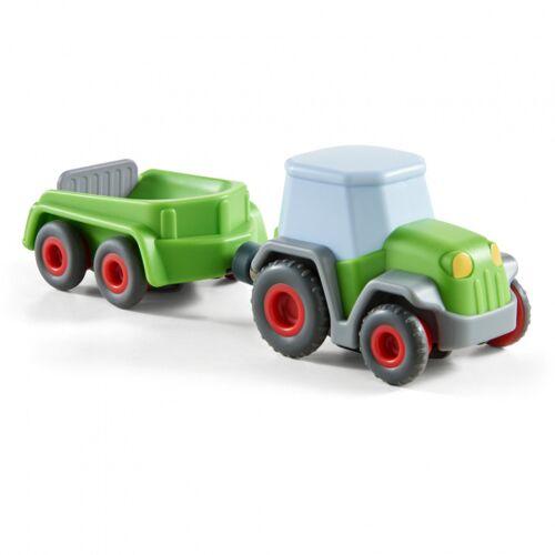Haba spielplatz Kullerbü Traktor mit Anhänger grün 18 x 5,6 cm
