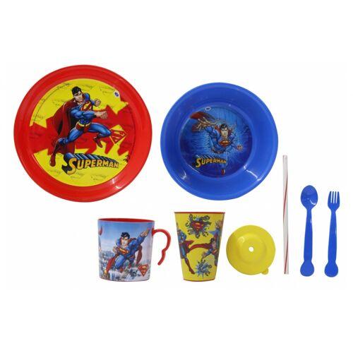 JAMARA geschirrset Superman Jungen rot/blau 8 teilig