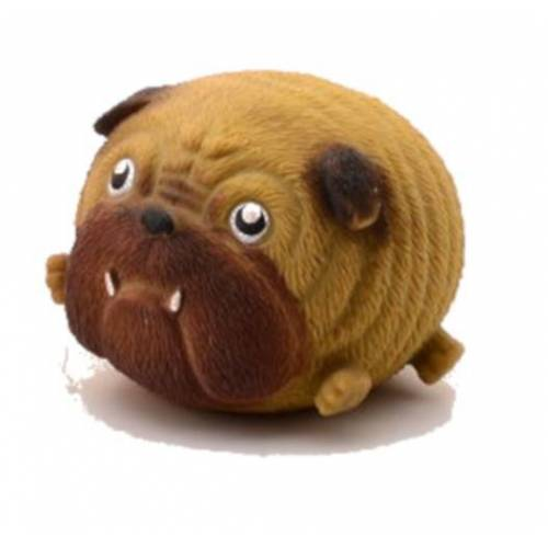 Johntoy Squishy Bulldogge Knetfigur 10 cm braun