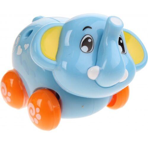 Kids Fun elefantenbaby auf Rädern blau