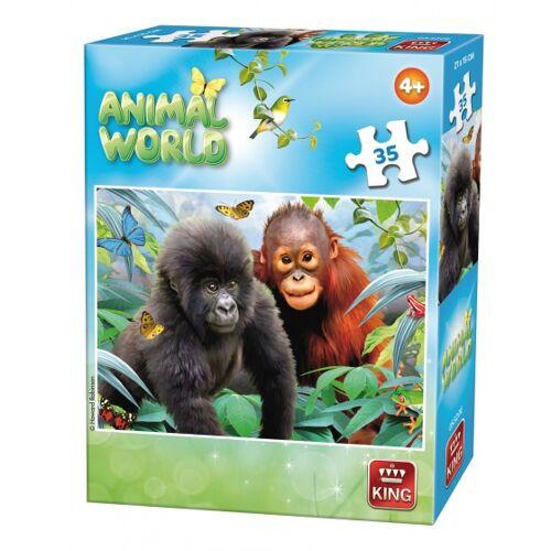 King puzzle Tierwelt Affen 35 Teile
