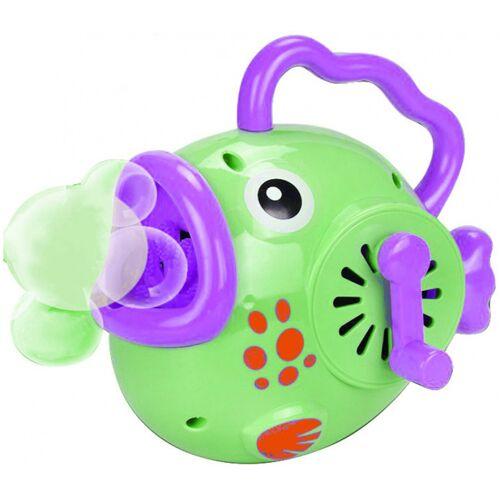 Luna seifenblasenmaschine Happy Fish 23 x 9 x 17 cm grün/lila