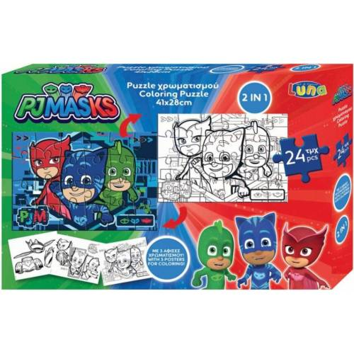Luna puzzle PJ Masks Jungen Karton 24 Teile