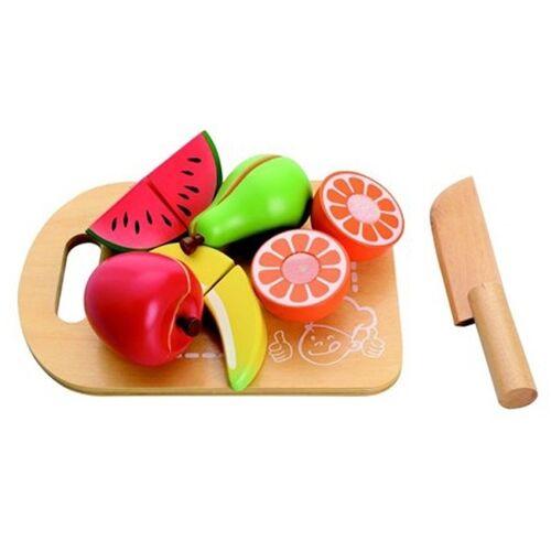 Mamamemo Holzbrett mit Frucht 20 x 14 x 5 cm