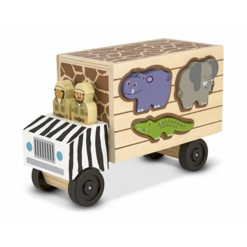 Melissa & Doug Eintopf aus Holz für Tiere, 10 teilig