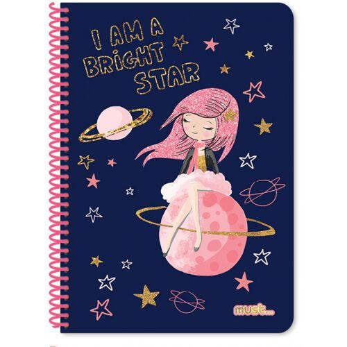 Must notizbuch Prinzessin Mädchen B5 Papier blau 30 Blatt