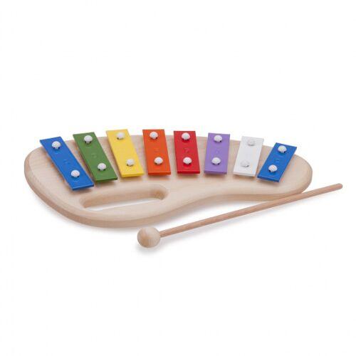 New Classic Toys Metallöffel 8 Töpfe 26 cm Holz/Stahl 3 teilig