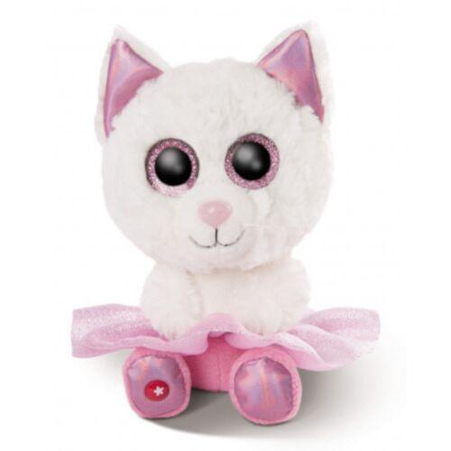 Nici stofftier Glubschis Katze junior 25 cm Plüsch weiß/rosa