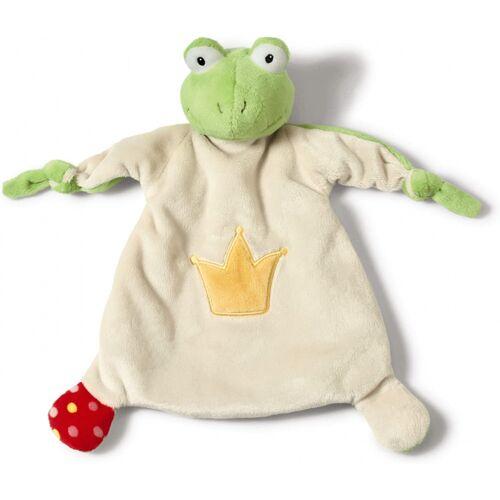 Nici stofftier Frog 25 x 25 cm Plüsch weiß/grün