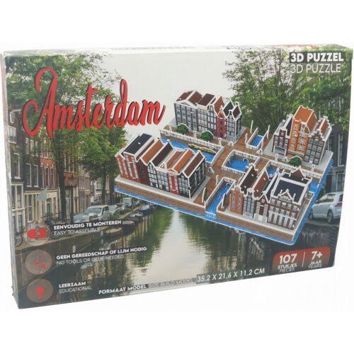 Pro-Lion Pro Lion 3D Puzzle Amsterdam 35,2 cm Karton braun 107 Teile