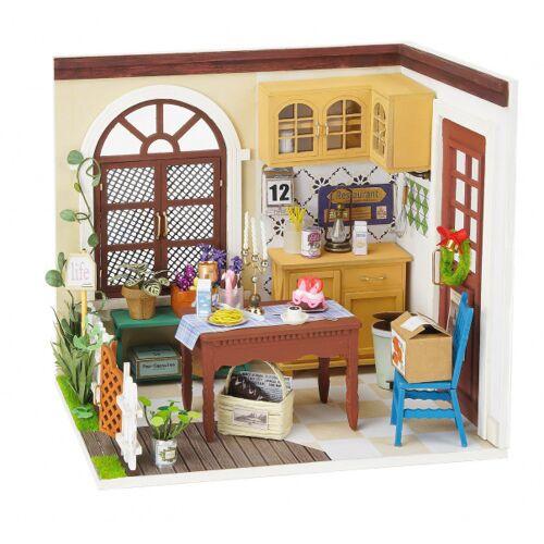 Robotime puppenhaus DIY Essgeschirr 23 cm Holz/Textil 3 teilig