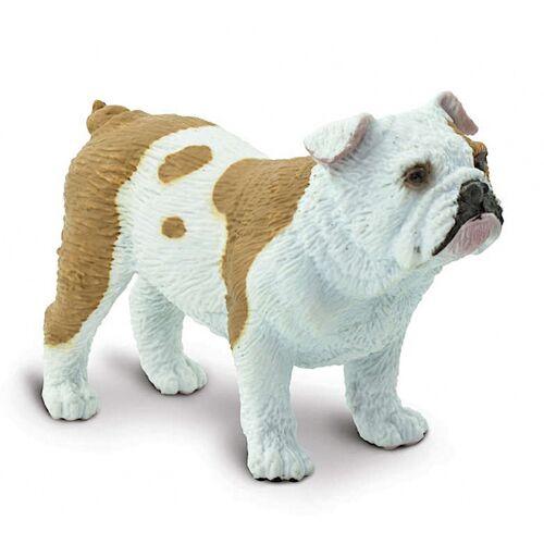 Safari spieltier Bulldogge 5,75 cm braun/weiß