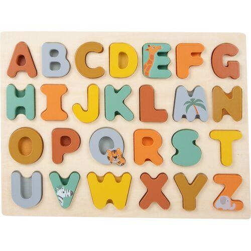Small Foot formpuzzle Alphabet Safari 22 x 29 cm Holz 26 teilig