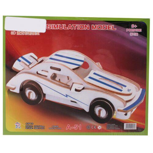 TOM puzzle Porsche junior 21 x 17 cm Holz blau/weiss 23 Teile