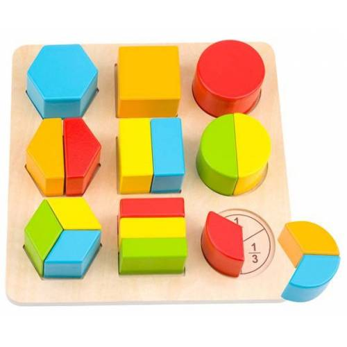 Tooky Toy block Puzzle Formen Junior 21 cm Holz 19 teilig