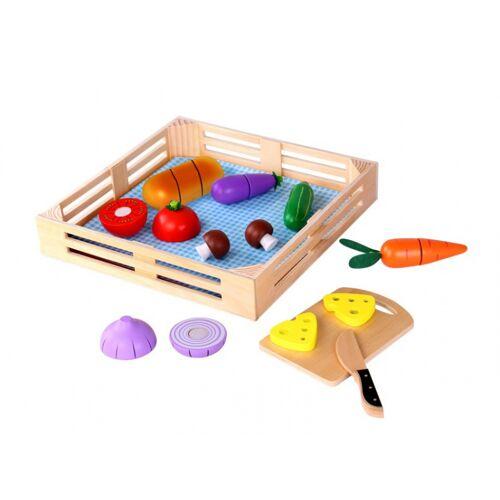 Tooky Toy frühstücksset junior 40 x 35 cm Holz 11 teilig