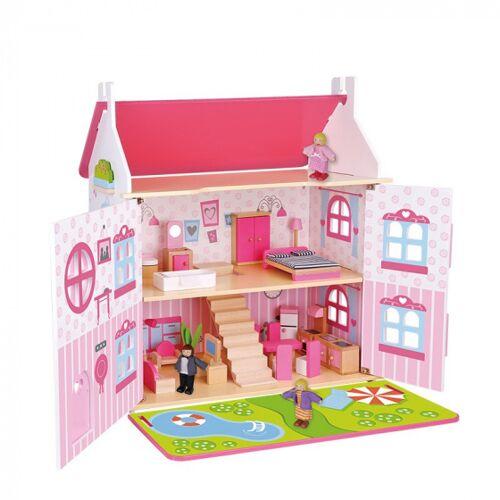 Tooky Toy puppenstubenmädchen 60 x 55 x 30 cm Holz rosa 32 teilig