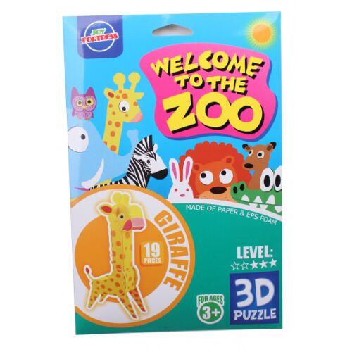 Toys Amsterdam 3D Tierpuzzle Giraffe Schaumstoff gelb 19 Stück