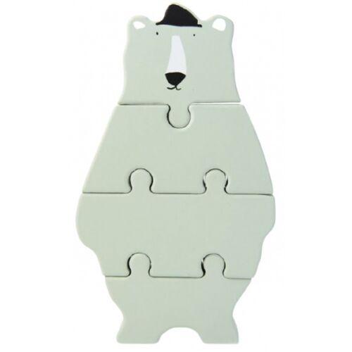 Trixie blockpuzzle Mr. Eisbär 18 cm Holz mintgrün 4 Teile