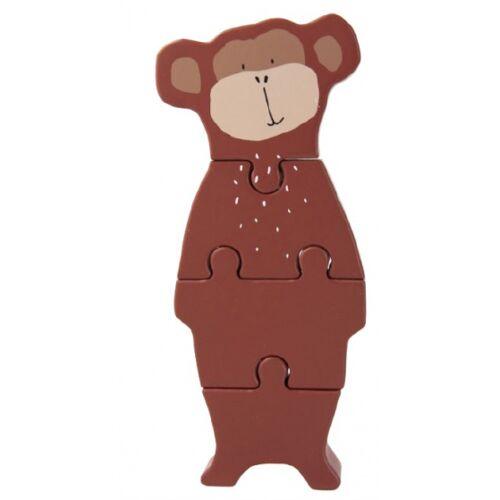 Trixie blockpuzzle Mr. Monkey 18 x 11 cm Holz braun 4 Stück