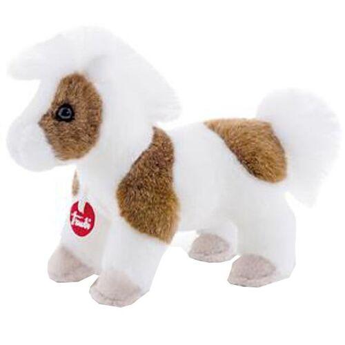 Trudi Spielzeugpferd weiß / braun 15 cm