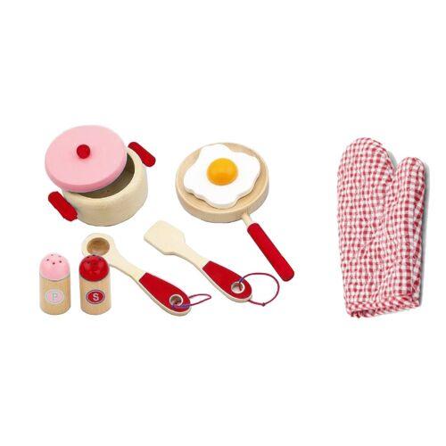 Viga Toys frühstücksset 8 teilig rot