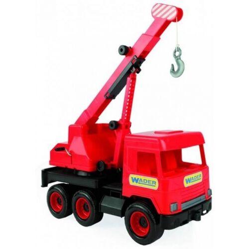 Wader spielzeug Kranwagen rot 43 cm