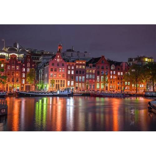 Wooden City puzzle Amsterdam bei Nacht Holz 600 Teile