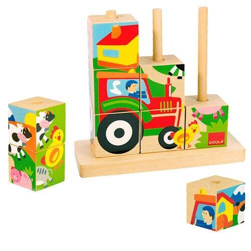 Jumbo blockpuzzle Farm junior Holz 9 teilig