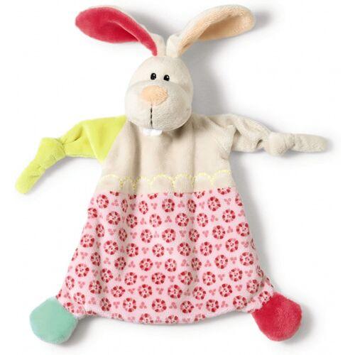 Nici stofftier Rabbit 25 x 25 cm Plüsch weiß/rosa
