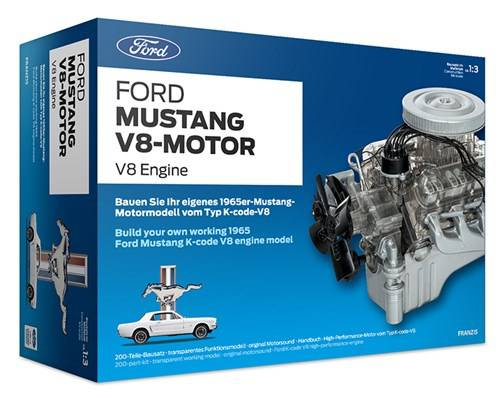Franzis bausatz Ford Mustang V8 27 cm silber 200 teilig