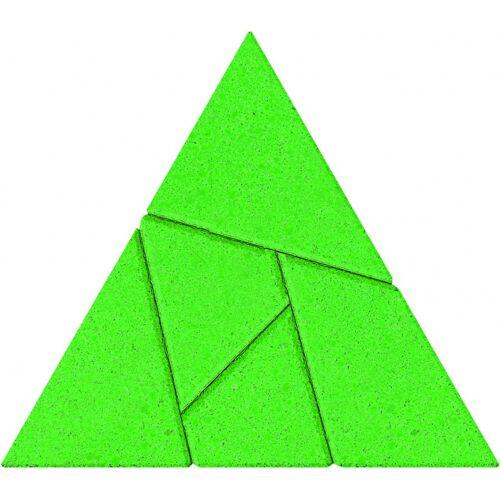 Anker rätselpuzzle Driehoek 7,5 cm Stein grün 5 teilig