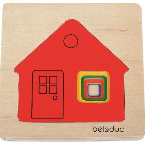 beleduc puzzle Huis 5 lagig Junior Holz 5 Teile