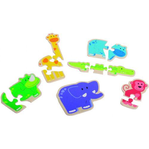 beleduc puzzle Fröhliche Tiere Junior Holz 18 Teile