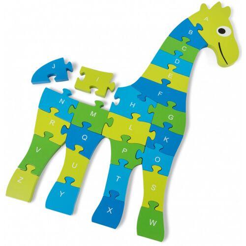BS Toys bodenpuzzle Giraffe junior 60 cm grün 26 teilig
