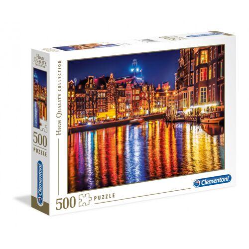 Clementoni Puzzle Amsterdam bei Nacht HQ 500 Teile